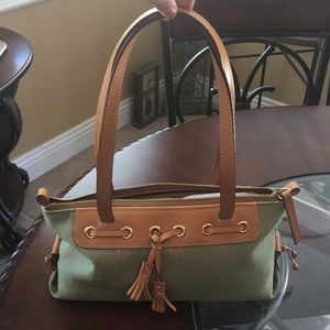 Dooney & Bourke Green Purse with Leather Straps